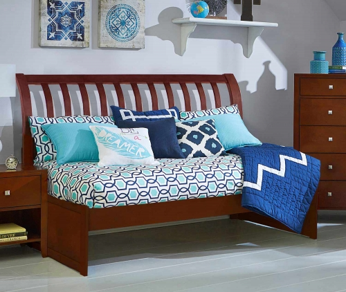 Pulse Rake Sleigh Twin Daybed - Cherry