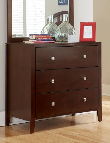 Pulse 3 Drawer Chest - Cherry