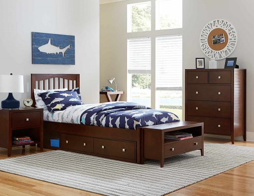 Pulse Mission Bedroom Set With Storage - Chocolate
