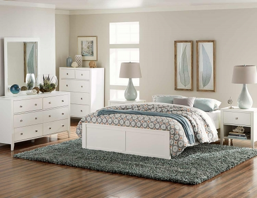 Pulse Platform Bedroom Set - White
