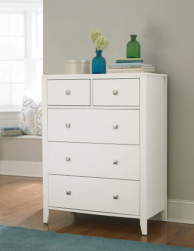 Pulse 5 Drawer Chest - White