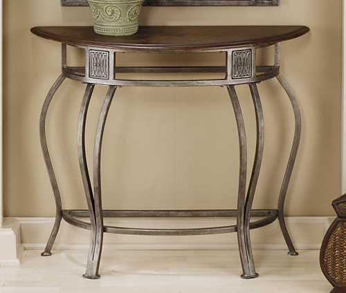 Montello Console Table with Wood Top