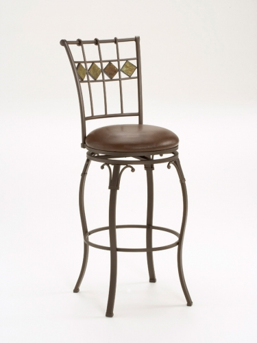 Lakeview Swivel Slate Bar Stool