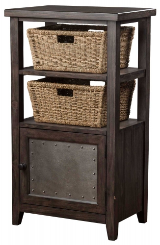 Tuscan Retreat Basket Stand with 2-Basket - Smoke