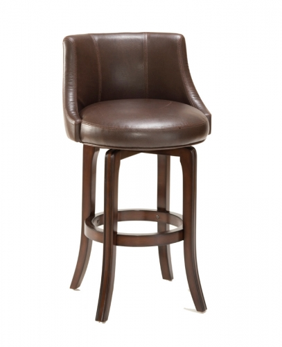 Napa Valley Swivel Counter Stool - Brown Leather
