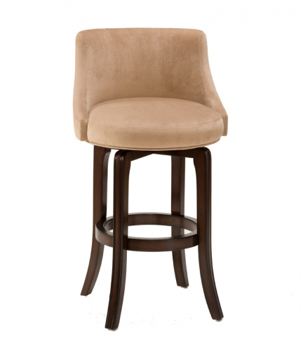 Napa Valley Swivel Counter Stool - Textured Khaki Fabric