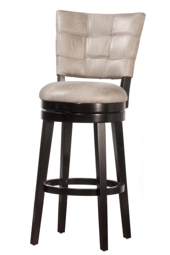 Kaede Swivel Counter Stool - Black