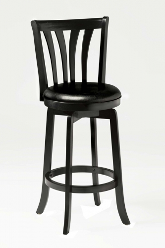 Savana Swivel Bar Stool - Black
