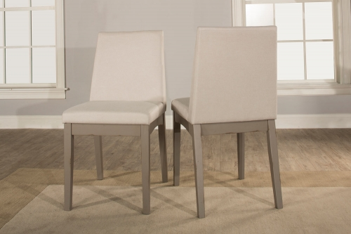 Clarion Upholstered Dining Chair - Distressed Gray - Fog Fabric