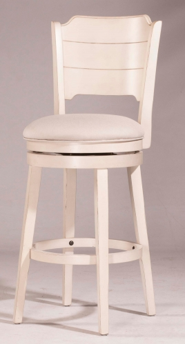 Clarion Swivel Counter Stool - Sea White - Fog Fabric