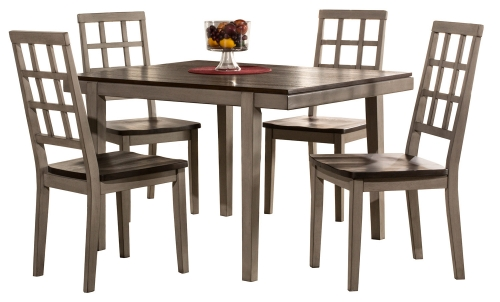Garden Park 5-Piece Dining Set - Gray/Espresso