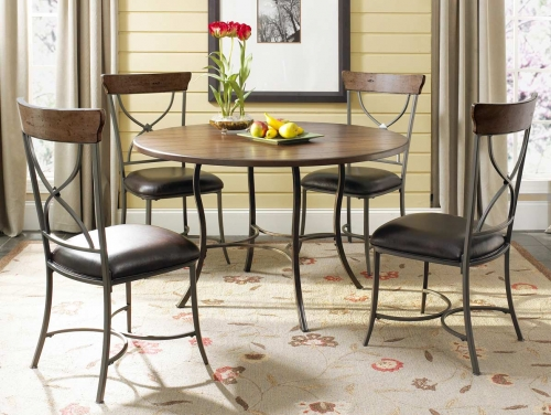 DTBC Cameron Round Dining Set X Back Dining Chair