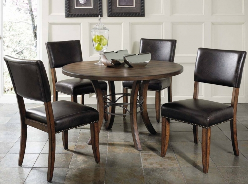 Cameron Round Dining Set With Parson Dining Chair