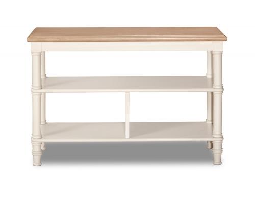 Seneca Basket Stand - Driftwood/Sea White