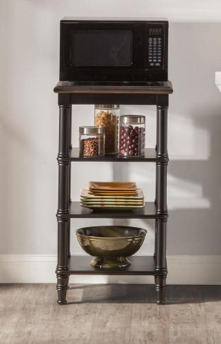 Seneca Basket Stand - Waxed Black/Walnut