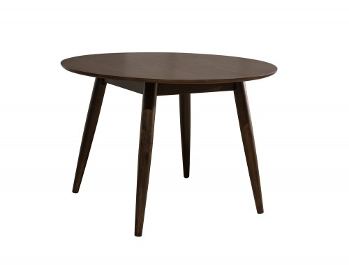 San Marino Midmod Wood Round Dining Table - Chestnut
