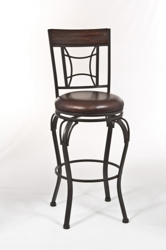 Granada Swivel Bar Stool - Dark Chestnut