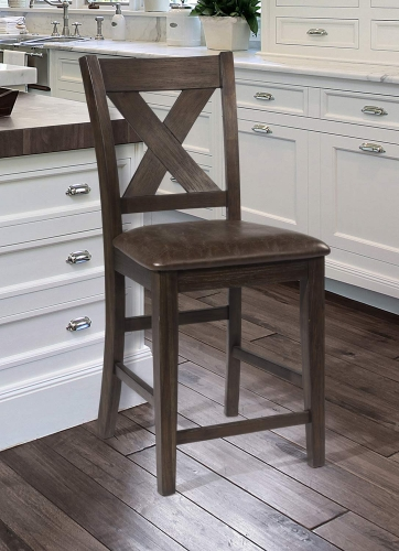 Spencer Non-Swivel Counter Stool - Dark Espresso