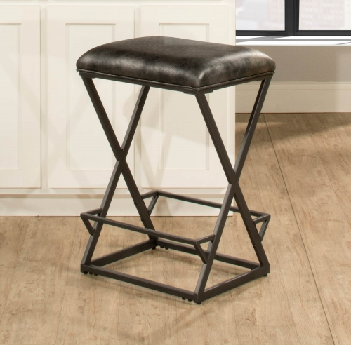 Kenwell Backless Non-Swivel Bar Stool - Charcoal