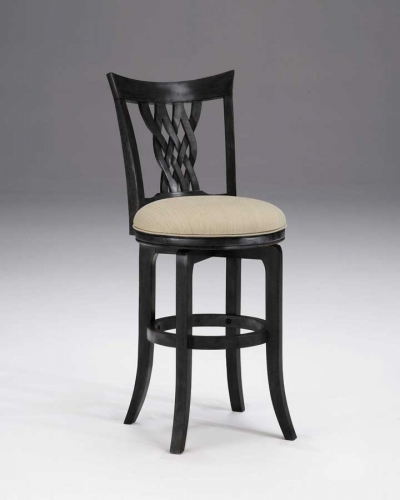 Hillsdale Embassy Swivel Bar Stool - Rubbed Black