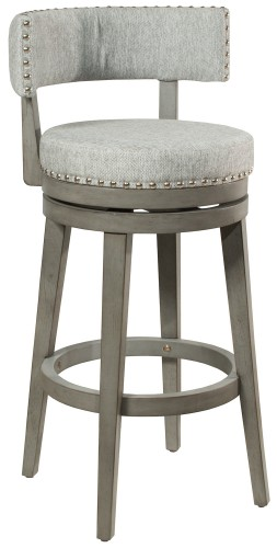 Lawton Swivel Bar Stool - Antique Gray