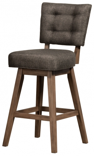 Lanning Swivel Bar Stool - Weathered Brown
