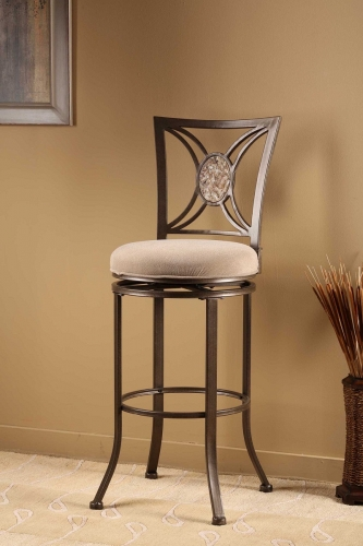 Rowan Swivel Bar Stool - Silver Brown