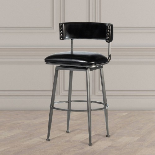 Kinsella Commercial Grade Swivel Bar Stool - Charcoal