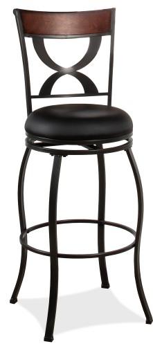 Stockport Swivel Counter Height Stool - Pewter