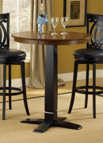 Dynamic Designs Pub Table-Brown-Black