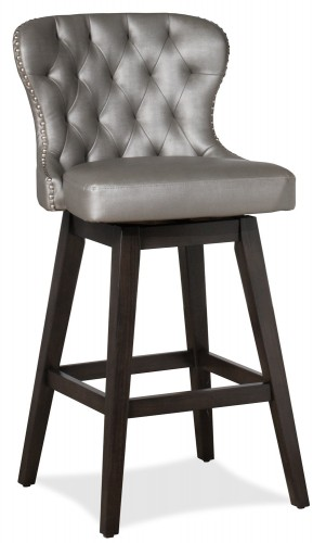 Rosabella Swivel Bar Stool - Charcoal