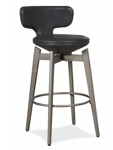 Genesis Swivel Bar Stool - Pewter