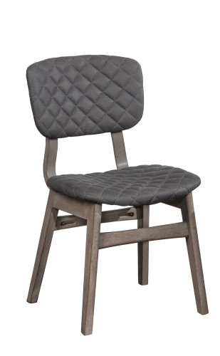Alden Bay Modern Diamond Stitch Dining Chair - Weathered Gray- Set of 2