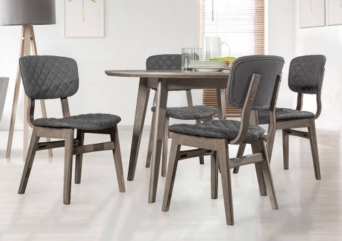 Alden Bay 5-Piece Round Dining Set - Weathered Gray