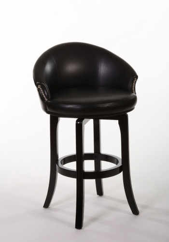 Dartford Swivel Bar Stool - Dark Brown Cherry