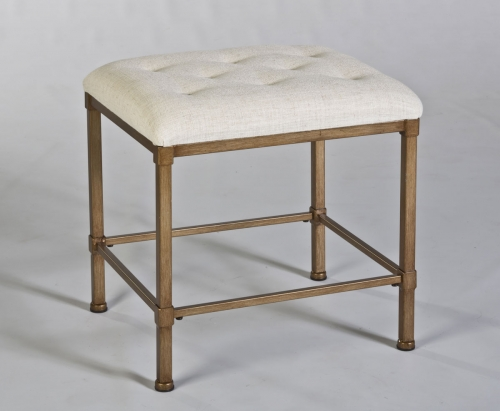 Katherine Backless Vanity Stool - Golden Bronze