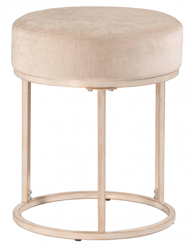 Swanson Vanity Stool - White - Bone Fabric