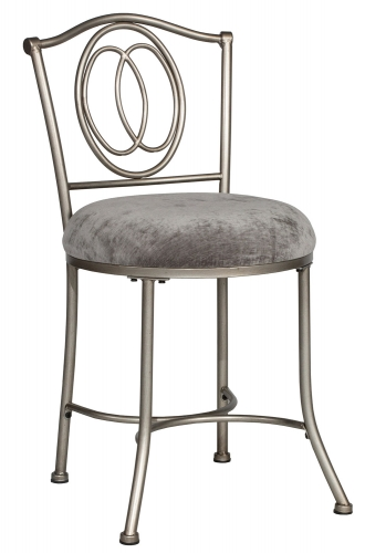 Emerson Vanity Stool - Pewter