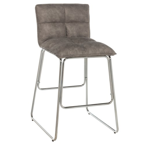 Beacon Hill Cross Stitch Metal Counter Height Stool - Chrome- Set of 2