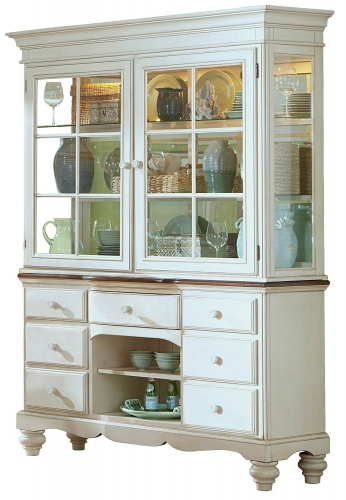 Pine Island Buffet and Hutch - Old White