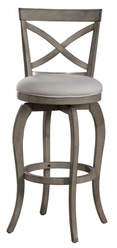 Ellendale Swivel Bar Height Stool - Aged Gray