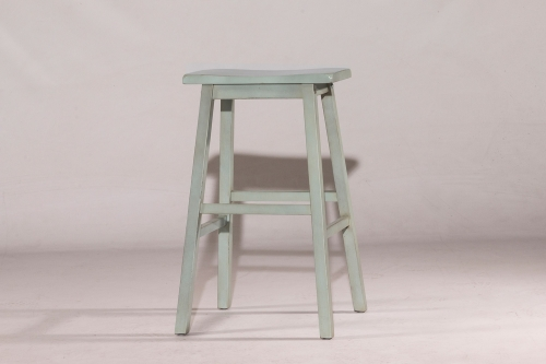 Moreno Non-Swivel Backless Counter Stool - Blue/Gray - Ecru Fabric