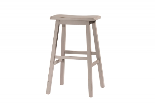Moreno Non-Swivel Backless Bar Stool - Gray