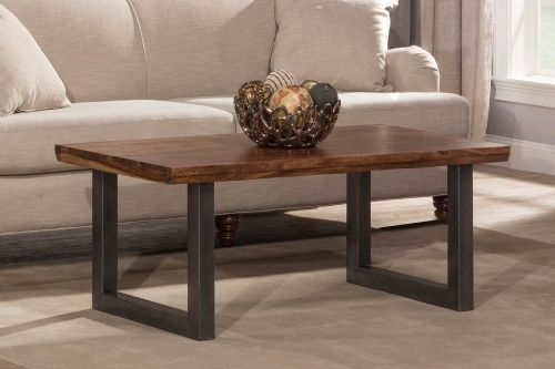 Emerson Coffee Table - Sheesham/Grey