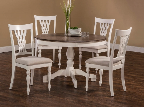 Bayberry-Embassy 5-Piece Round Dining Set - White