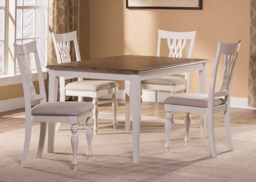 Bayberry-Embassy 5-Piece Rectangle Dining Set - White