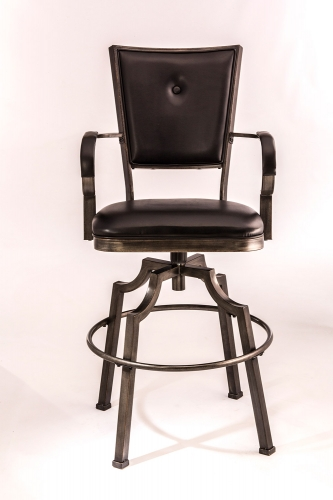 Castlebrook Swivel Bar Stool - Bronze Pewter