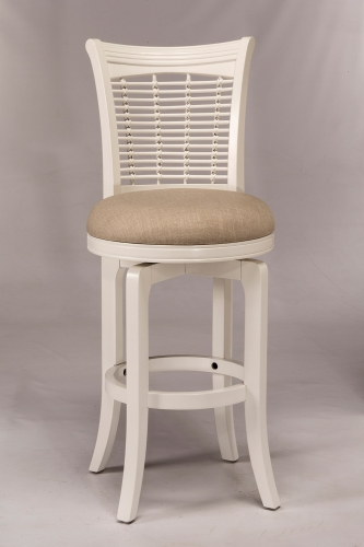 Bayberry Swivel Bar Stool - White