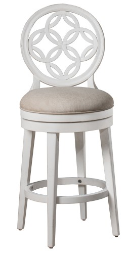 Savona Swivel Bar Height Stool - White