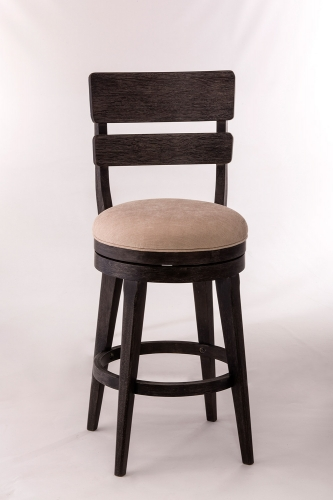 LeClair Swivel Bar Stool - Black